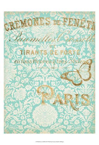 Paris in Gold II-Jennifer Goldberger-Art Print
