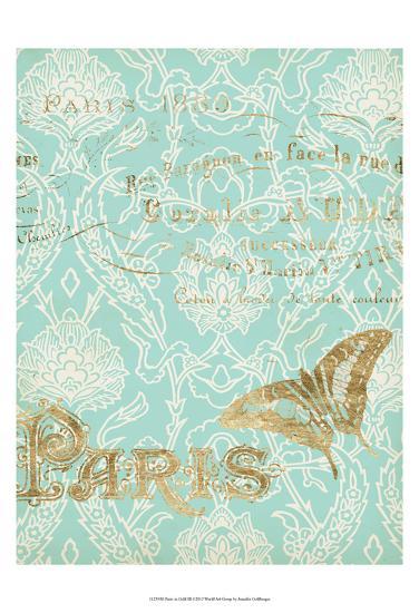 Paris in Gold III-Jennifer Goldberger-Art Print