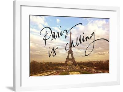 Paris is Calling-Emily Navas-Framed Premium Giclee Print