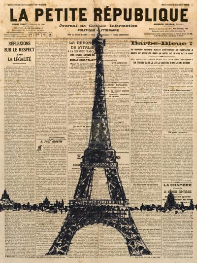 Paris Journal I-Maria Mendez-Art Print