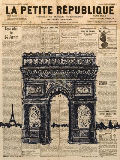 Paris Journal II-Maria Mendez-Art Print