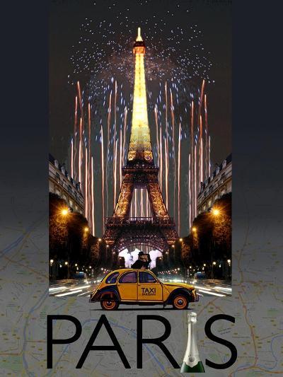 Paris Kiss-Big Island Studios-Art Print