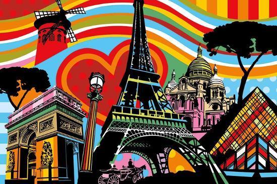 Paris l'Amour-Lobo-Art Print