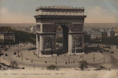 Paris, L'Arc De Triomphe De L'Etoile--Giclee Print