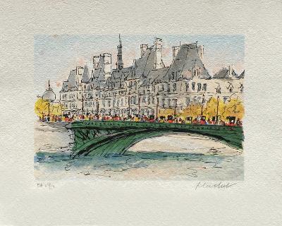 Paris, L'Hôtel De Ville-Urbain Huchet-Collectable Print
