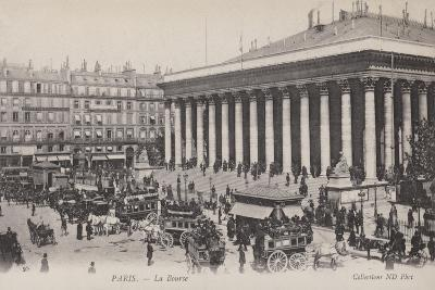 Paris, La Bourse--Giclee Print