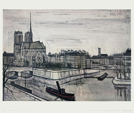 Paris, La Cite Collectable Print by Bernard Buffet | Art.com