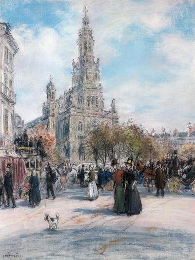 Paris, La Place De Trinite-Jean Francois Raffaelli-Giclee Print