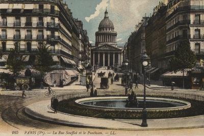 Paris, La Rue Soufflot, Le Pantheon--Giclee Print