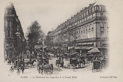 Paris, Le Boulevard Des Capucines, Le Grand Hotel
