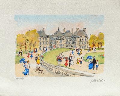 Paris, Le Jardin Du Luxembourg-Urbain Huchet-Collectable Print