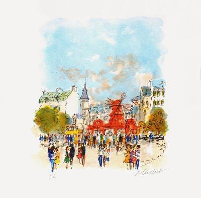 Paris, Le MouIIn Rouge Iv-Urbain Huchet-Collectable Print
