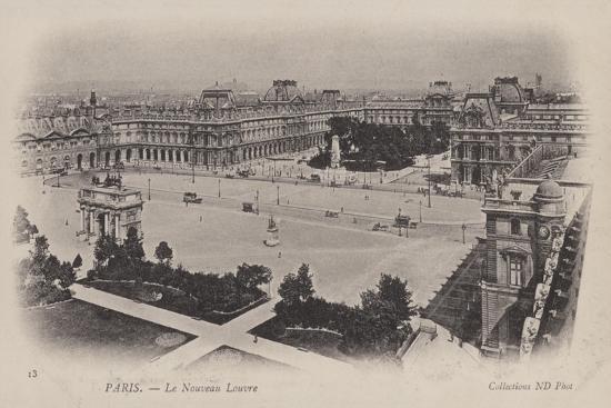 Paris, Le Nouveau Louvre--Giclee Print