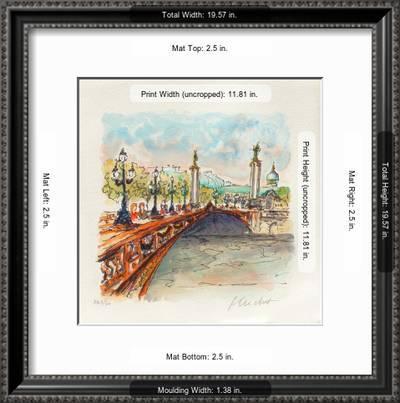 Paris Le Pont Alexandre Iii Collectable Print Urbain Huchet Art Com