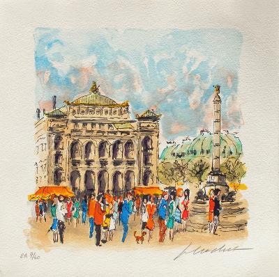 Paris, Le Th??tre Du Ch?telet-Urbain Huchet-Collectable Print