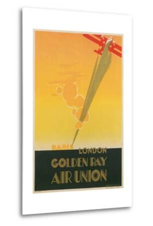 Paris London Golden Ray Air Union Poster