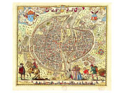 Paris Map by Rossingol 1576--Art Print
