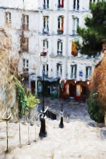 Paris Montmartre III - In the Style of Oil Painting-Philippe Hugonnard-Giclee Print