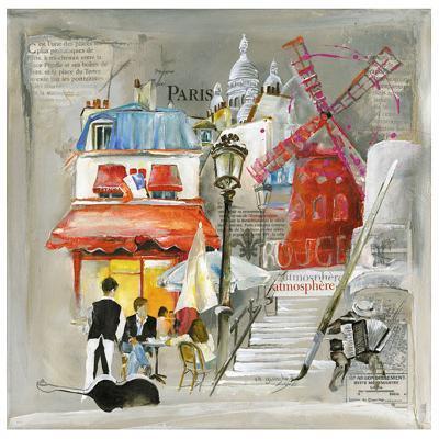 Paris Moulin Rouge-Lizie-Art Print