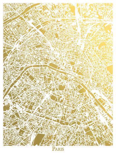 Paris New-The Gold Foil Map Company-Art Print