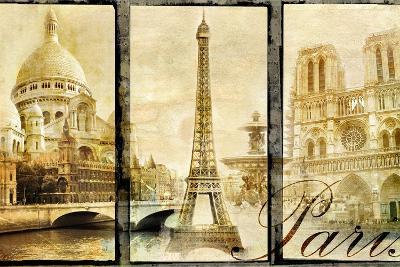 Paris - Old Photo-Album Series-Maugli-l-Art Print