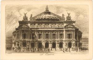 Paris Opera House Etching