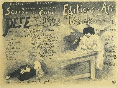 Paris Opera Programme, Including Works by August Strindberg, 1894-F?lix Vallotton-Giclee Print
