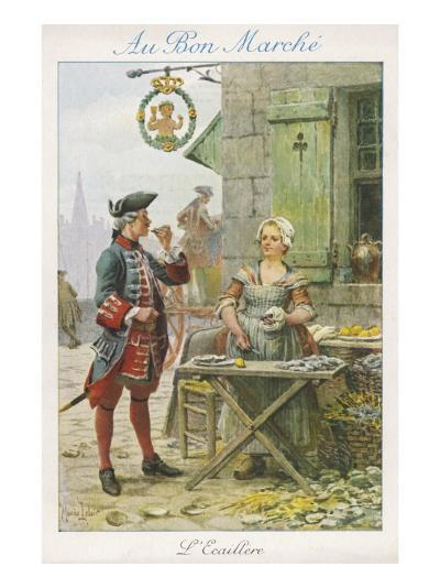 Paris, Oyster Stall 18C--Giclee Print