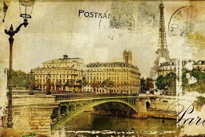 Paris Paris.. Vintage Photoalbum Series-Maugli-l-Art Print