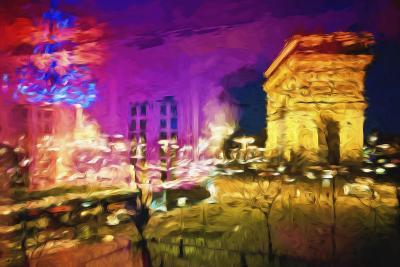 Paris Pink Atmosphere - In the Style of Oil Painting-Philippe Hugonnard-Giclee Print