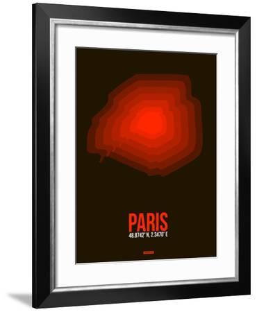 Paris Radiant Map 4-NaxArt-Framed Art Print