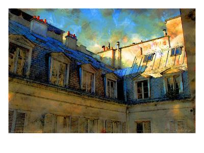 Paris Roof in Blue, France-Nicolas Hugo-Giclee Print