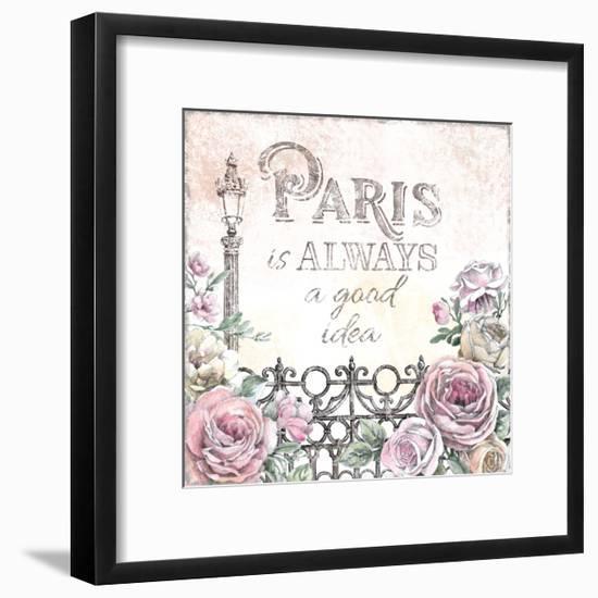 Paris Roses IV-Beth Grove-Framed Art Print