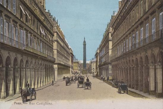 Paris, Rue Castiglione--Giclee Print