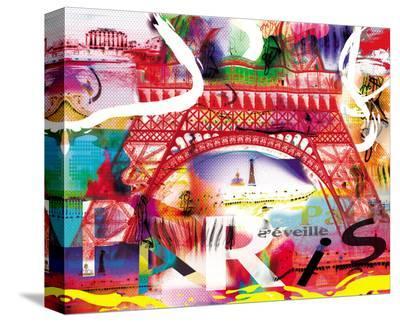 Paris s'eveille-Kaly-Stretched Canvas Print