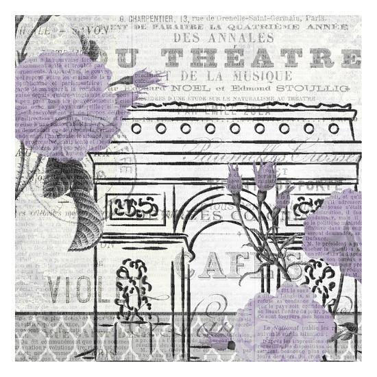 Paris Script Purple 2-Kimberly Allen-Art Print