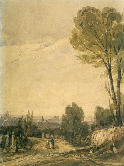 Paris Seen from the Pere Lachaise Cemetery, C1825-Richard Parkes Bonington-Giclee Print