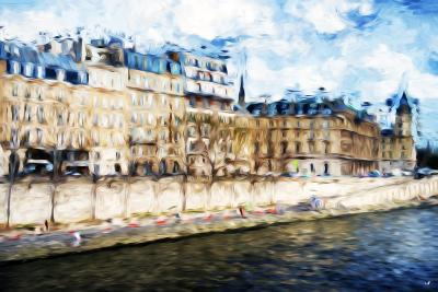 Paris Seine II - In the Style of Oil Painting-Philippe Hugonnard-Giclee Print