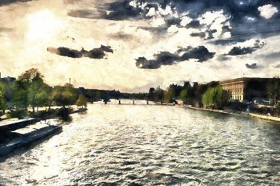 Paris Seine Sunset-Philippe Hugonnard-Giclee Print