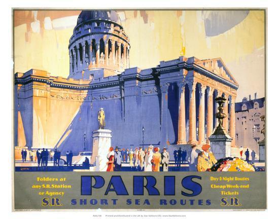 Paris, Short Sea Routes, SR, c.1932-Frederick Griffin-Art Print