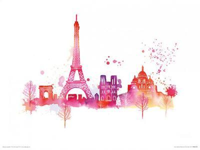 Paris Skyline-Summer Thornton-Art Print