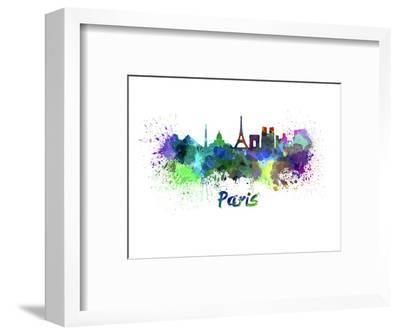 Paris Splatter Skyline Aquarel