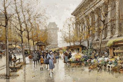 Paris Street in Autumn-Eugene Galien-Laloue-Giclee Print