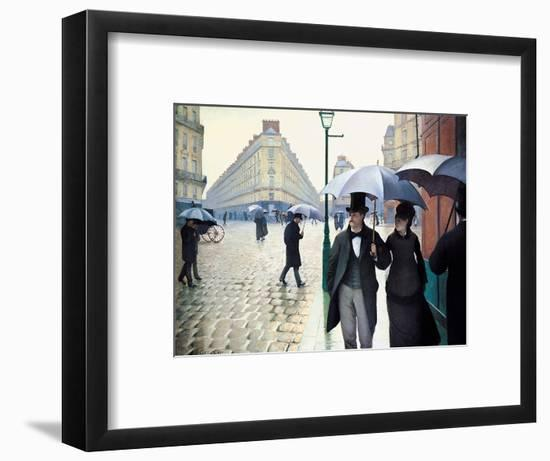'Paris Street; Rainy Day', 1877-Gustave Caillebotte-Framed Giclee Print