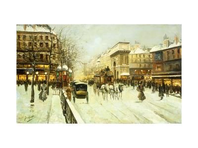 Paris Street Scene-Fausto Giusto-Giclee Print
