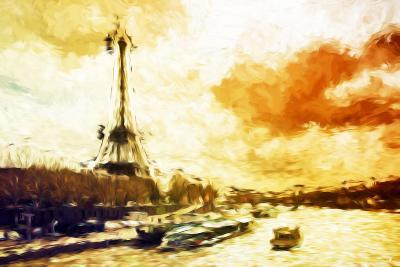 Paris Sunset - In the Style of Oil Painting-Philippe Hugonnard-Giclee Print
