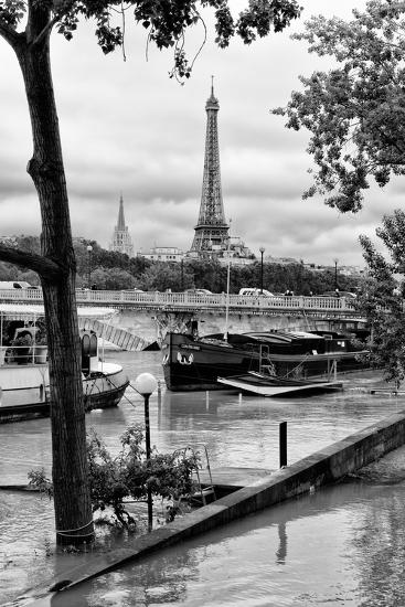 Paris sur Seine Collection - Barges on the Seine-Philippe Hugonnard-Photographic Print