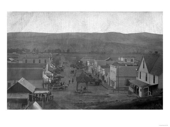 Paris, Texas - Aerial View of Town-Lantern Press-Art Print