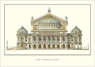 Paris, Theatre de l'Opera, Paris-Charles Garnier-Art Print