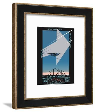 Paris to Istanbul (Stamboul) in the Same Day - Orient Flying Arrow - CIDNA French Airline-Edmond Maurus-Framed Art Print
